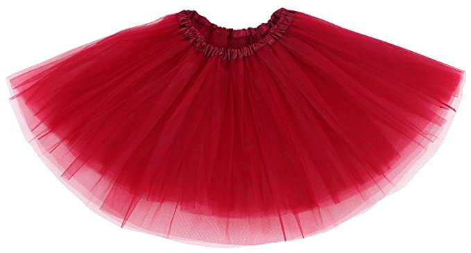 23b74bd63d Adult Women's Sparkly Glitter/Solid Colored Tulle Ballet Tutu Skirt,  Burgundy