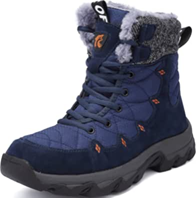 Lvptsh Botas de Nieve Hombre Invierno Botines Zapatos ntideslizantes Calentar Forradas Impermeables Zapatillas de Senderismo Zapatos Trekking