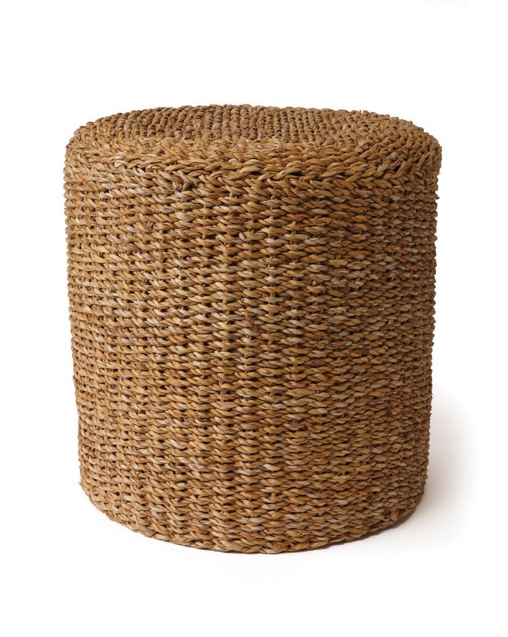 Napa Home & Garden Seagrass Round Pouf