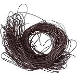 45 mètres Cordon Ciré Coton 1mm cordes - café noir
