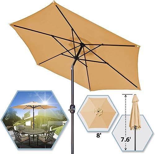8 Parasol Patio New Garden Patio Umbrella Sunshade Market Outdoor-Beg