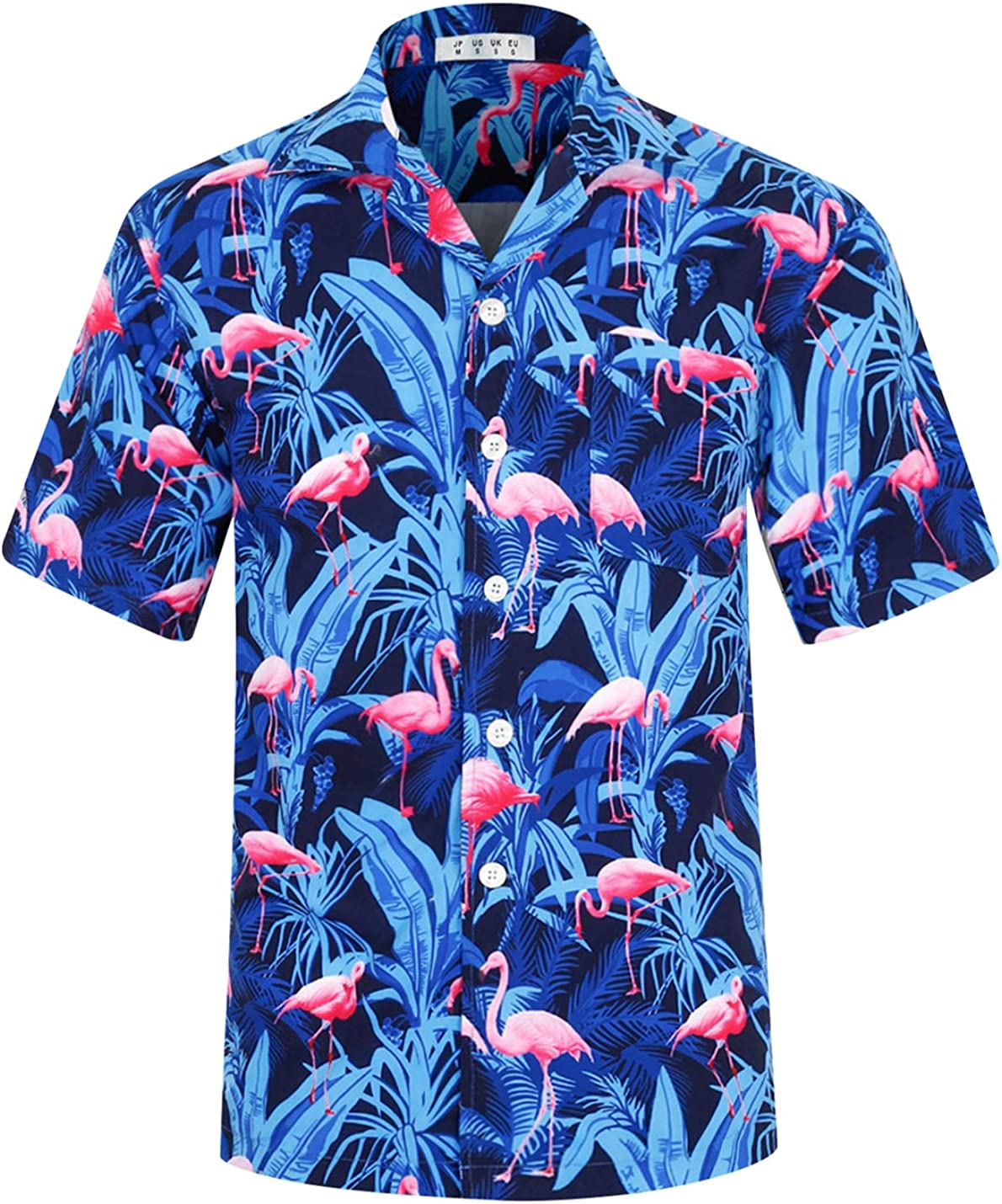 APTRO Men's Casual Hawaiian Shirt 4 Way Stretch Relax Fit Short Sleeve Tropical Shirts