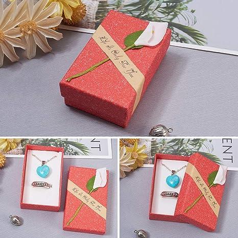 Bodas cumplea/ños NBEADS Juego de 24 Cajas de Regalo Marca 8,9 x 4,45 x 4,45 cm Caja de joyer/ía de Lirio para Aniversarios