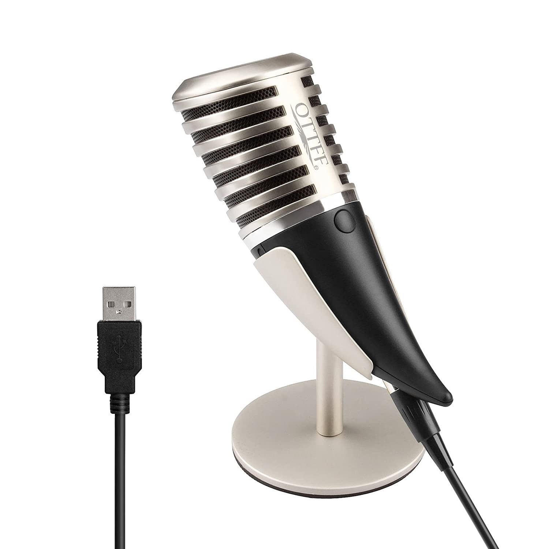 OTTFF transductor de condensador micrófono de sobremesa USB ...
