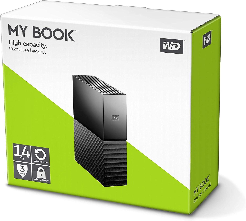 USB 3.0 WDBBGB0140HBK-NESN Western Digital 14TB My Book Desktop External Hard Drive