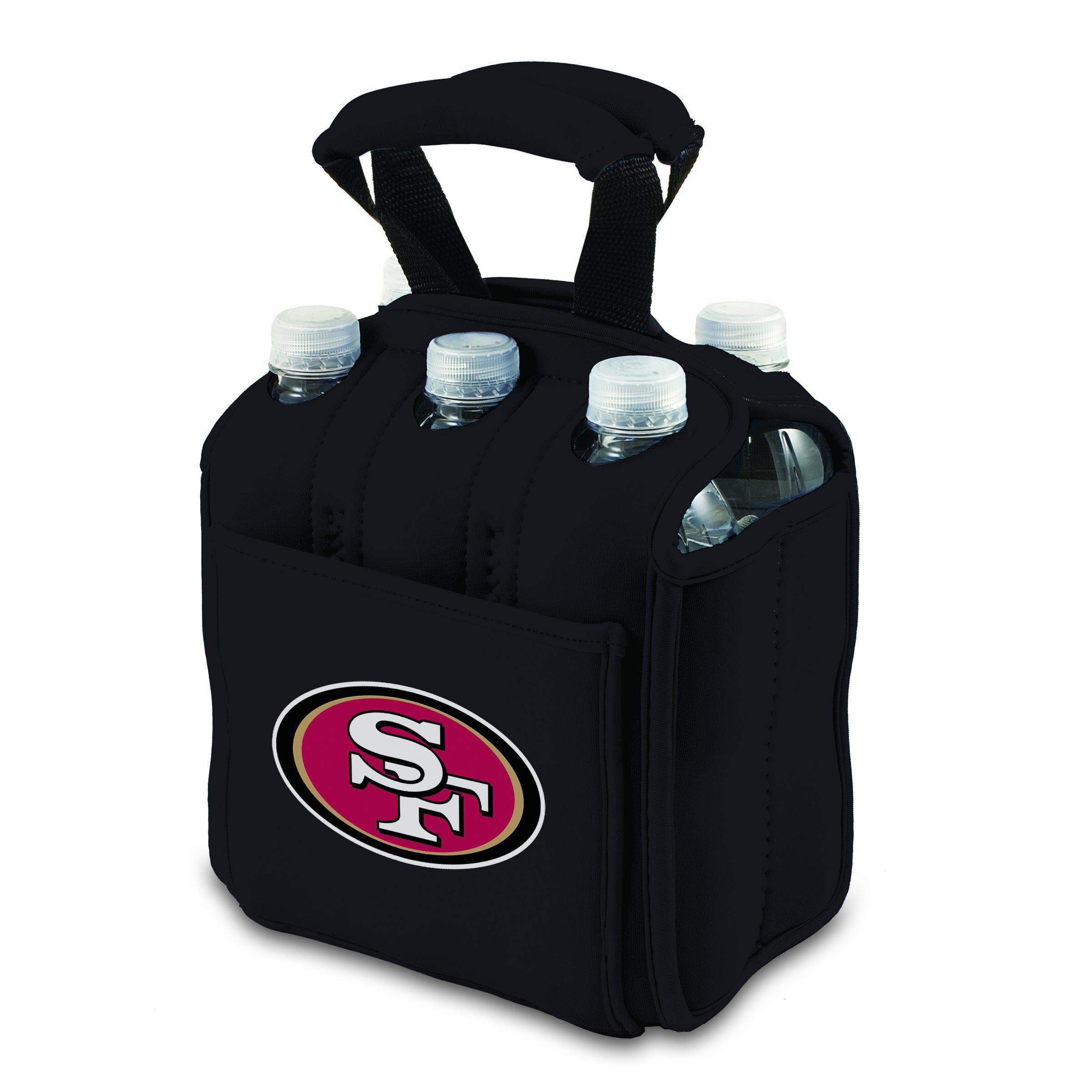 PICNIC TIME NFL San Francisco 49ers Six Pack Cooler Tote, Black