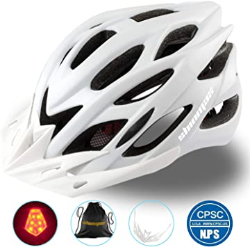 Shinmax Casco Especializado de la Bici con la luz SeguridadCasco ...