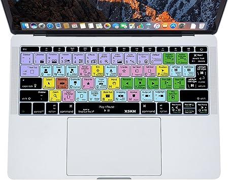 XSKN FCPX Final Cut Pro X (Inglés) piel del teclado de silicona para MacBook Pro 13