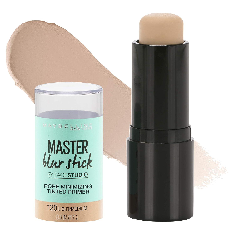 Maybelline New York Facestudio Master Blur Stick Primer Makeup, Light/Medium, 0.3 oz.