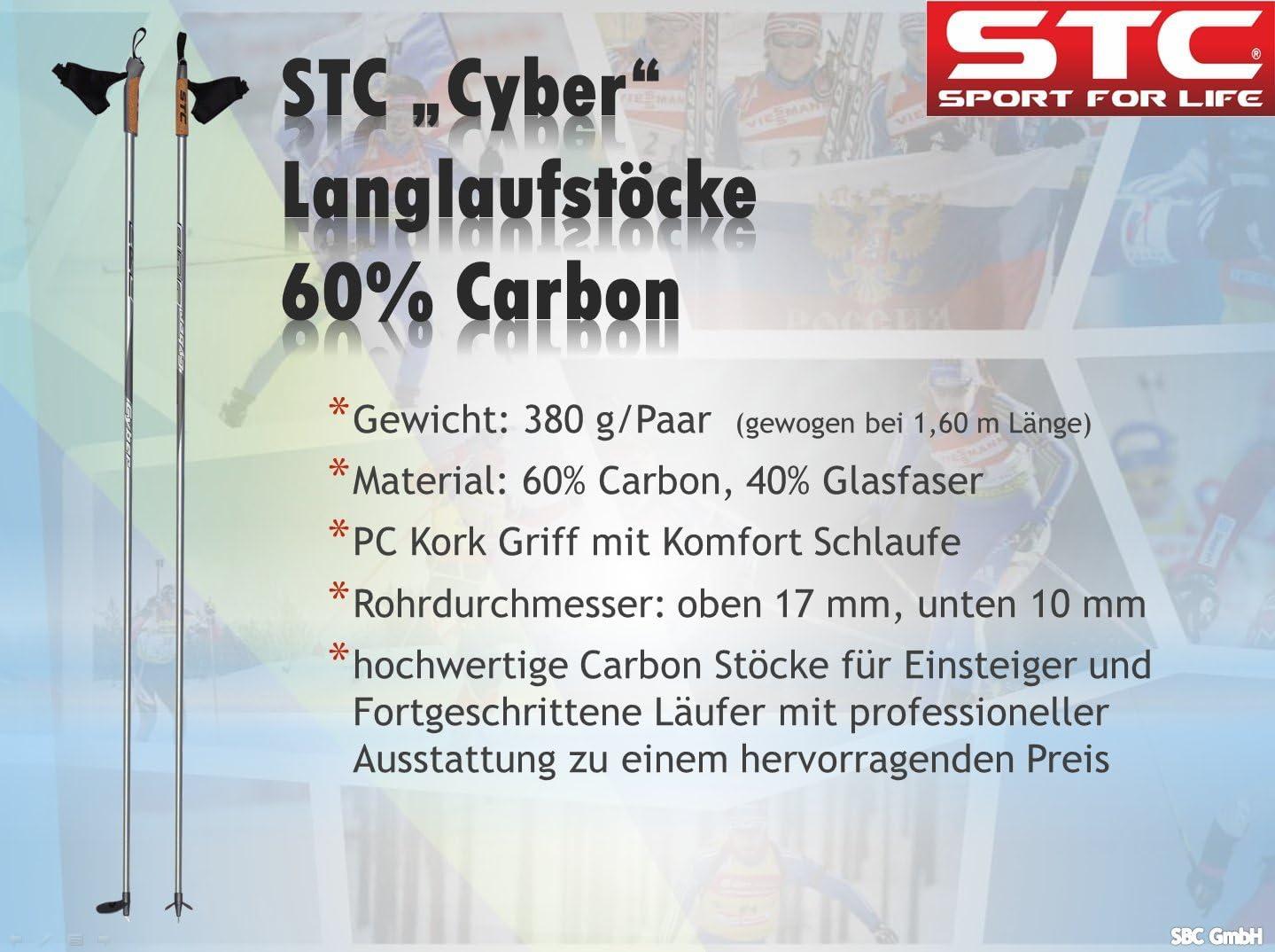 STC 60/% Carbon Langlaufstock Skating St/öcke Skist/öcke Skate Cyber