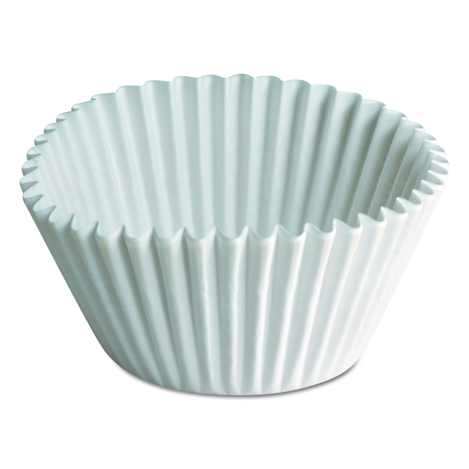 Hoffmaster BL350-6.5 6-1/2 Inch White Dry Fluted Paper Bake Cup 500-Pack (Case of 10)