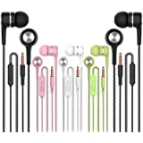 Earbuds Earphones with Microphone,5pack Ear Buds Wired Headphones,Noise Islating Earbuds,Fits 3.5mm Interface for iPad…