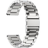 Fullmosa 3 colori per Cinturino Orologio con Sgancio Rapido, Cinturino in Acciaio Inossidabile 16 mm, 18 mm, 20 mm, 22 mm e 24 mm 22mm Argento