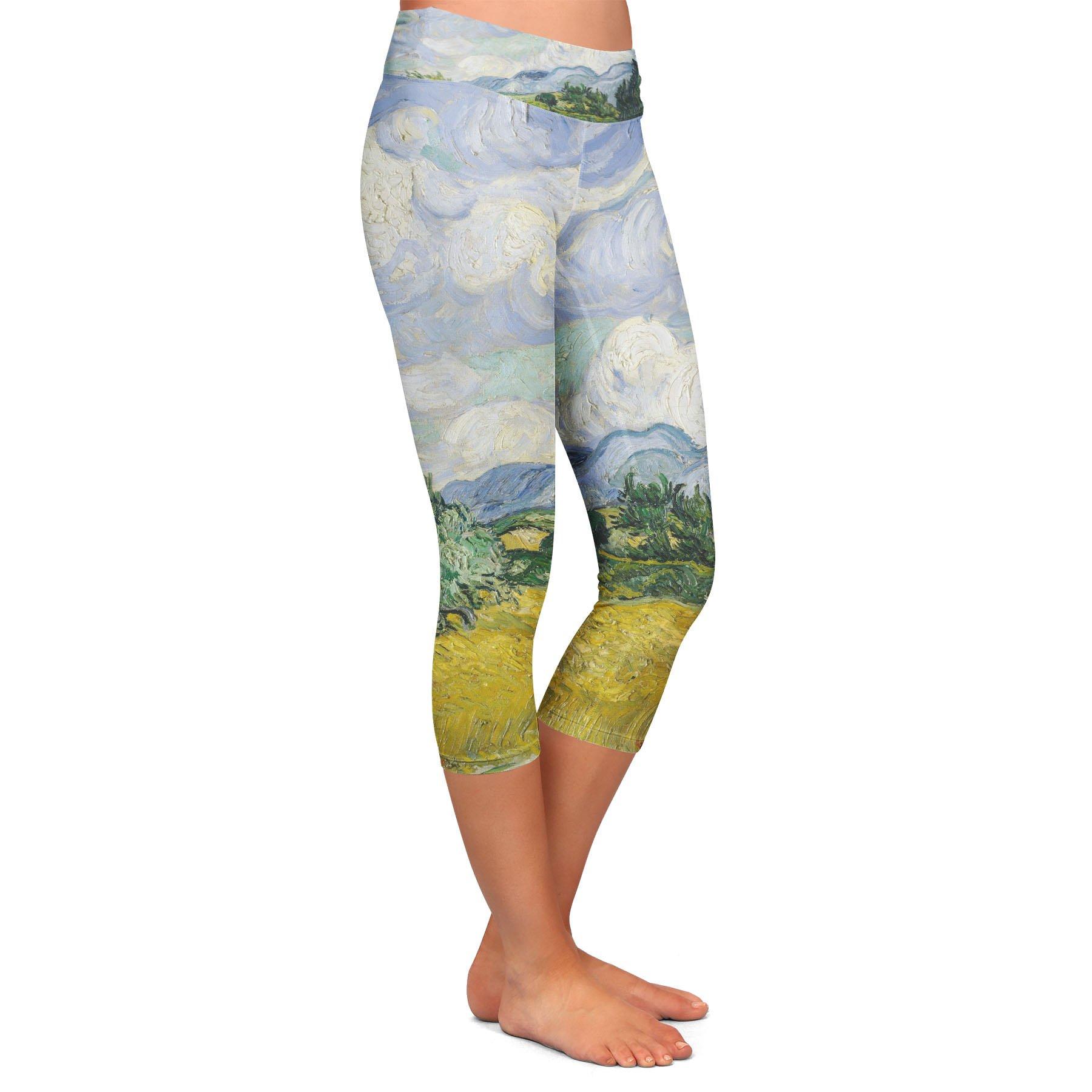 Vincent Van Gogh Fine Art Painting Yoga Leggings - Capri 3/4 Length, Low Waist by Queen of Cases (Image #2)