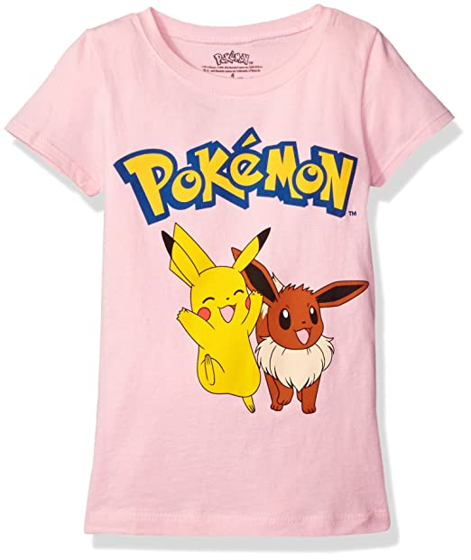 b3b2eb87 Amazon.com: Pokemon Little Girls Short Sleeve Princess Tee, Light ...