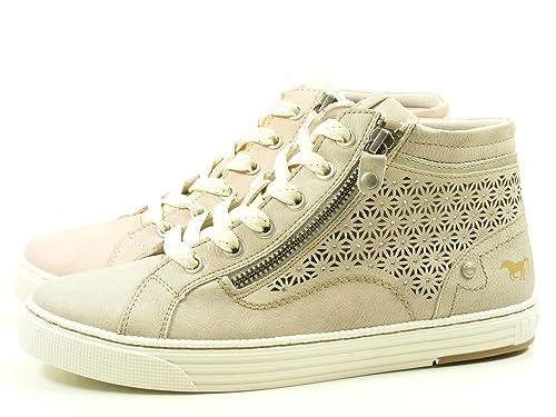 Mustang Zapatillas Altas Mujer, Color Beige, Talla 38 EU: Amazon.es: Zapatos y complementos