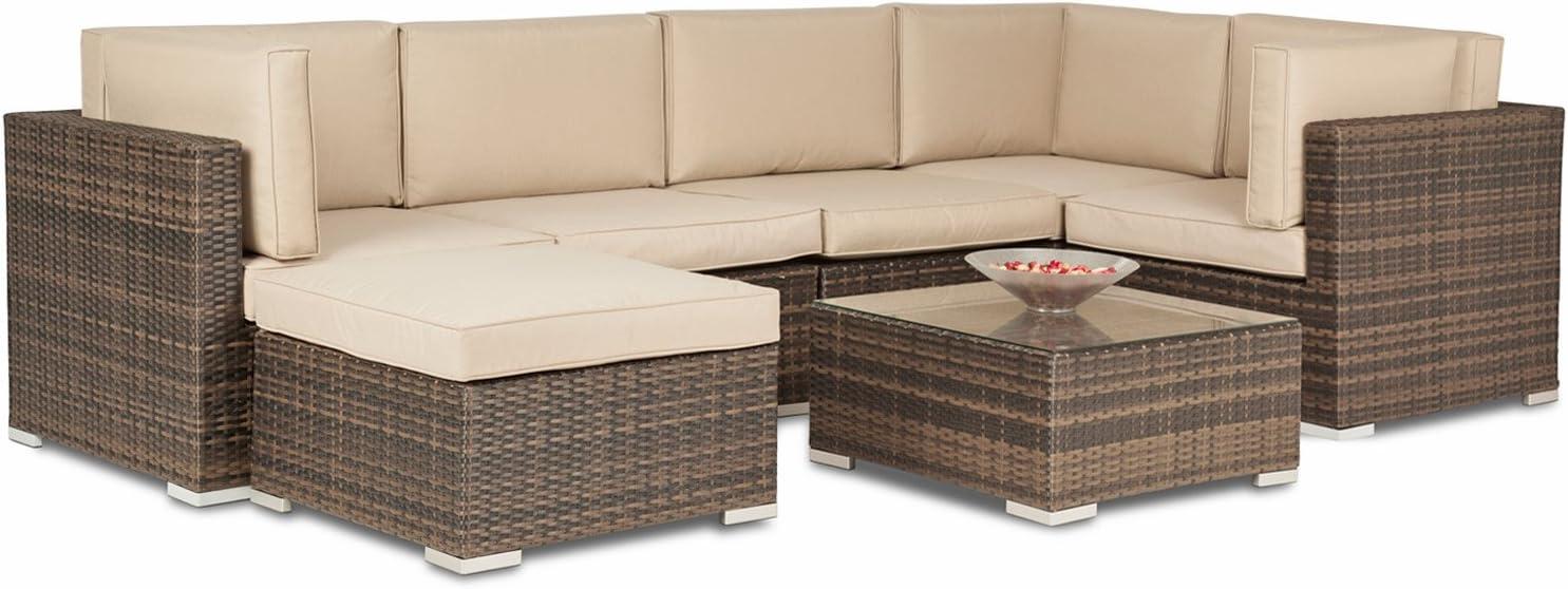 Chelsea Rattan Corner Unit - 12 Seater Garden Furniture Set - Sofa