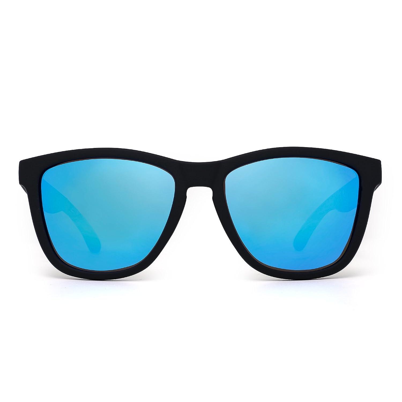 b9c1b513e1 Amazon.com  JIM HALO Retro Polarized Sunglasses for Women Men Vintage  Square Mirror Glasses (Matte Black Polarized Mirror Blue)  Shoes