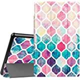 Fintie Slim Case for All-New Amazon Fire HD 10 Tablet (7th Generation, 2017 Release) - Ultra Lightweight Protective Stand Cover with Auto Wake/Sleep for Fire HD 10.1 Inch Tablet, Moroccan Love