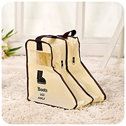 547e7b4ae635 Amazon.com  Yiuswoys Handles Non-woven Dustproof Boots Storage Bags ...
