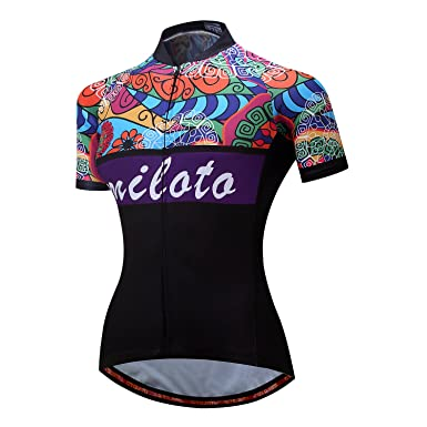 Amazon.com  MILOTO Women s Cycling Jersey Short Sleeve Reflective ... 318272141