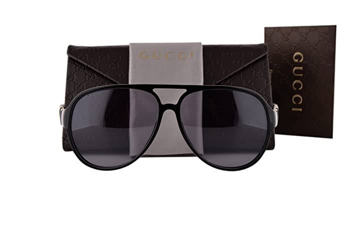 b1c32f8f16c Image Unavailable. Image not available for. Colour  Gucci GG1065 S  Sunglasses Black ...