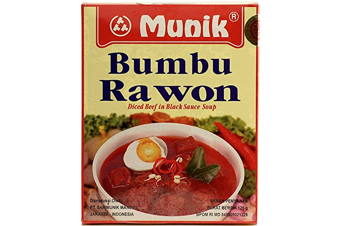 Munik Rawon (Carne de res en salsa negra), 125 gramos