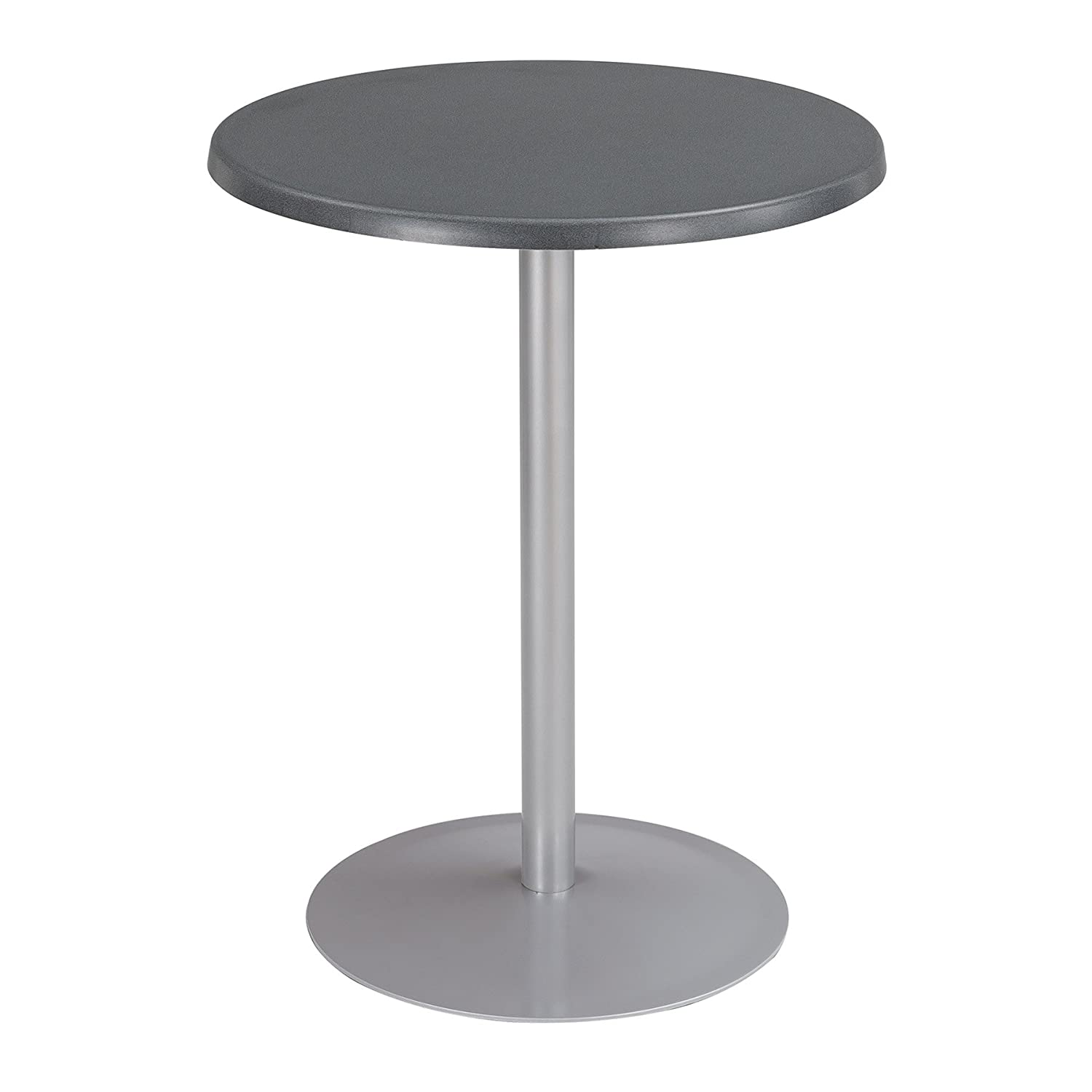 Safco Products 2491AC Entourage Table Top 24 Round Base sold separately Anthracite