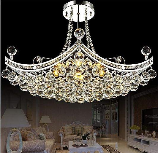 Kankanray Luxury Crystal Chandelier Creative LED Ceiling Light Boat Shape Chandelier Pendant Lighting Fixture
