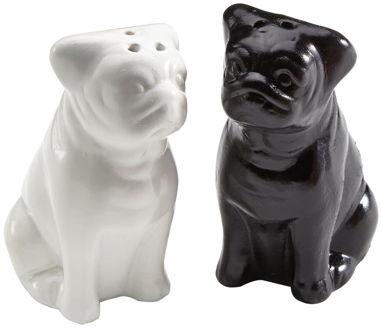 color blanco y negro Partyschreck 24 Salero y pimentero con forma de perros