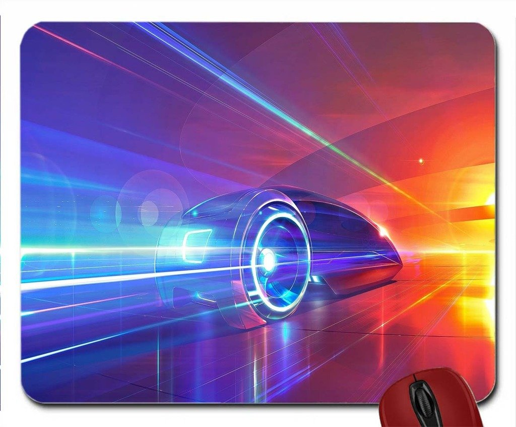 Amazoncom Futuristic Car Wallpaper Mouse Pad Computer