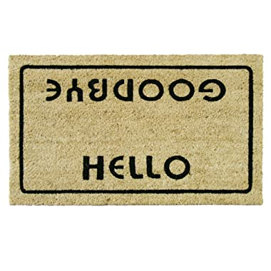Rubber-Cal  Hello, Welcome Goodbye Funny Doormat, 18 x 30-Inch