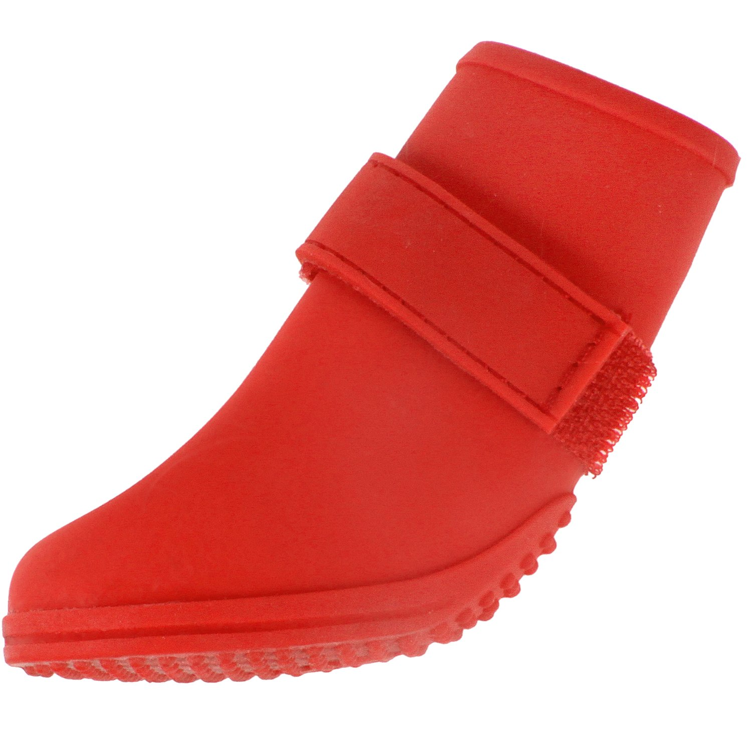 American Kennel Club Jelly Wellies Preimum Rain or Shine Waterproof Dog Boot with Extra Firm Gripping Soles- Medium, Red