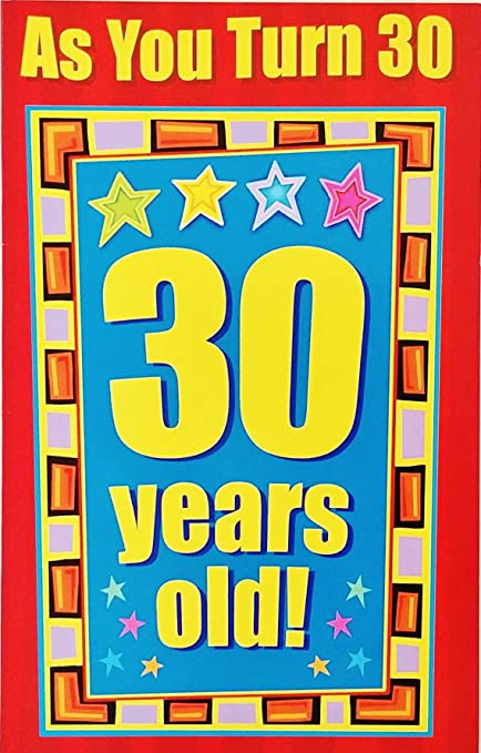 Amazon As You Turn 30 Years Old Happy 30th Birthday Greeting
