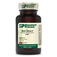 Standard Process Bio-Dent - Whole Food Supplement for Skin, Muscle, and Bone Health - Calcium, Licorice Root, Manganese, Phosphorus, and More - 180 Tablets