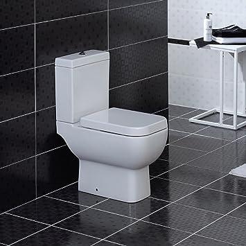 RAK moderne Toilette mit Soft-Close-Deckel und -Sitz, weiß: Amazon ...