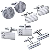 Amazon Price History for:JOVIVI® 4Pairs Stainless Steel Mens Classic Modern Ornate Pattern Style Dress Shirt Cufflinks Mix Design Set
