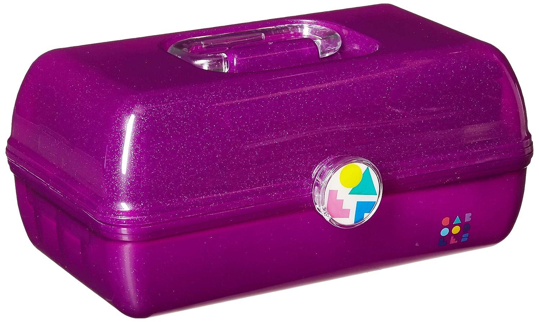 Caboodles On-The-Go Girl Purple Sparkle Jellies Vintage Case, 1 Lb