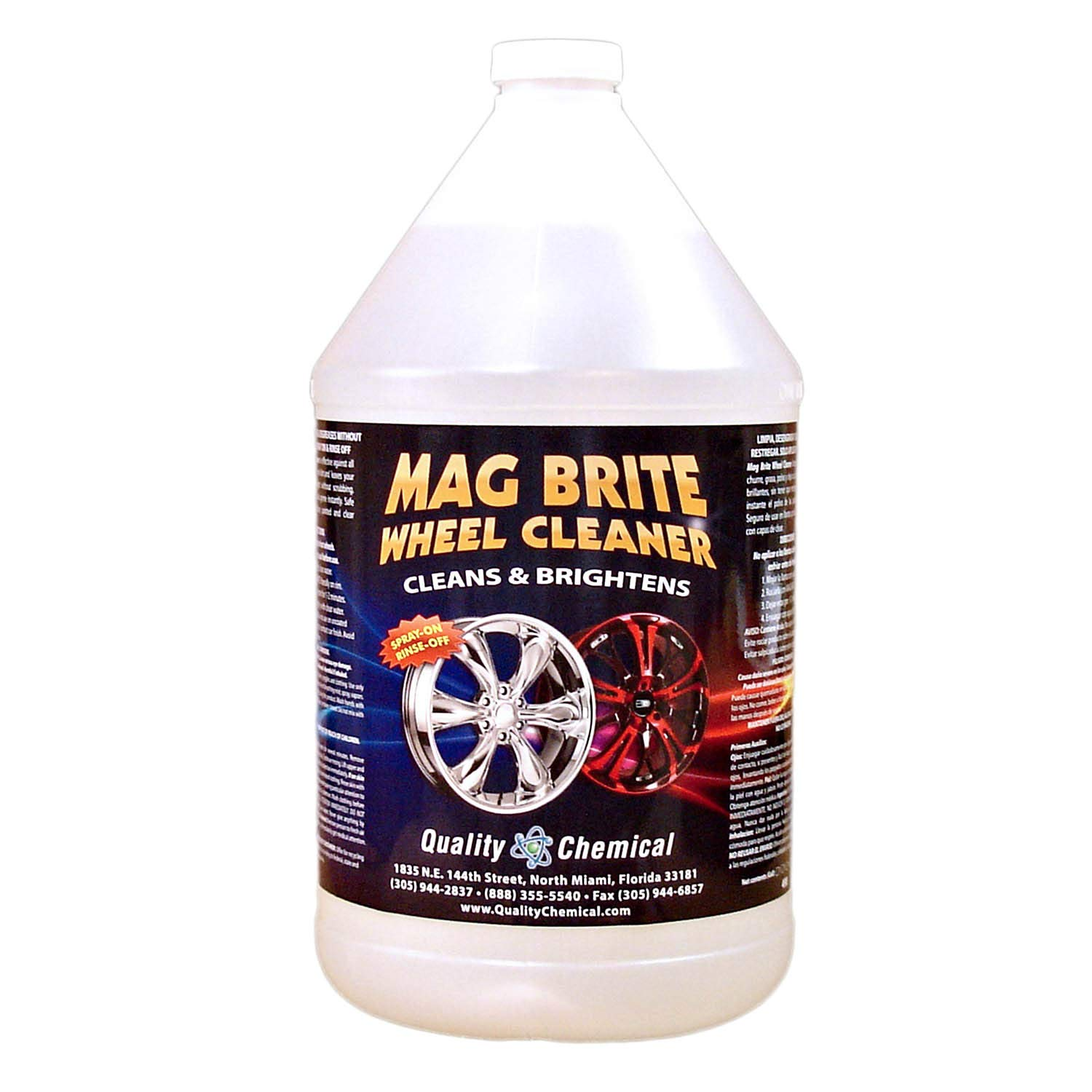 Quality Chemical Mag Brite - Acid wheel cleaner formulated to safely remove brake dust and heavy road film.-1 gallon (128 oz.)