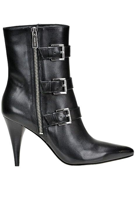 Michael By Michael Kors Mujer MCGLCAS000004229I Negro Cuero Botines: Amazon.es: Zapatos y complementos