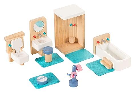 Amazon Com Juvale Bathroom Dollhouse Furniture Set 14 Piece Kids