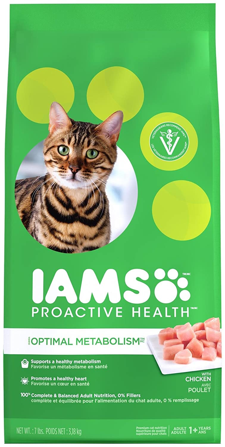 IAMS Proactive Health Optimal Metabolism Dry Cat Food 7 pounds