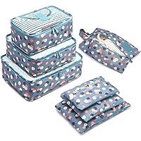 Koffer Organizer Reise Kleidertaschen,LOSMILE Set 7-teilig Reisetasche,Packtaschen Reisegepäck für Kleidung Schuhe Unterwäsche Kosmetik.