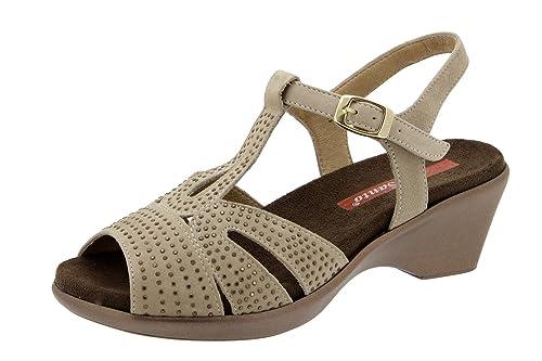Calzado Piel Piesanto Plantilla Confort Sandalia De 4863 Mujer N8mnw0