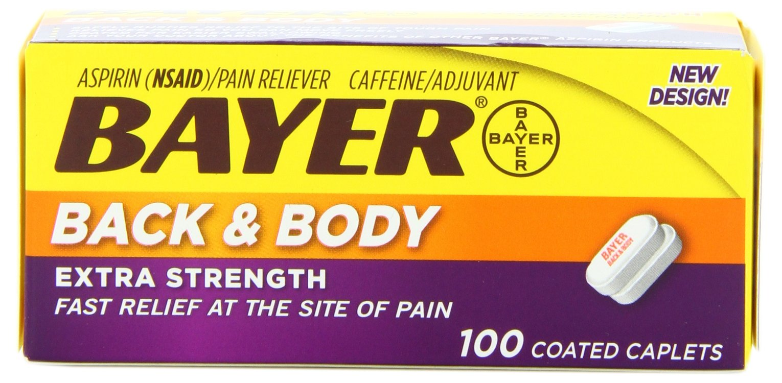 Bayer Extra Strength Back & Body Caplets 500mg, 100-Count Caplets by Bayer