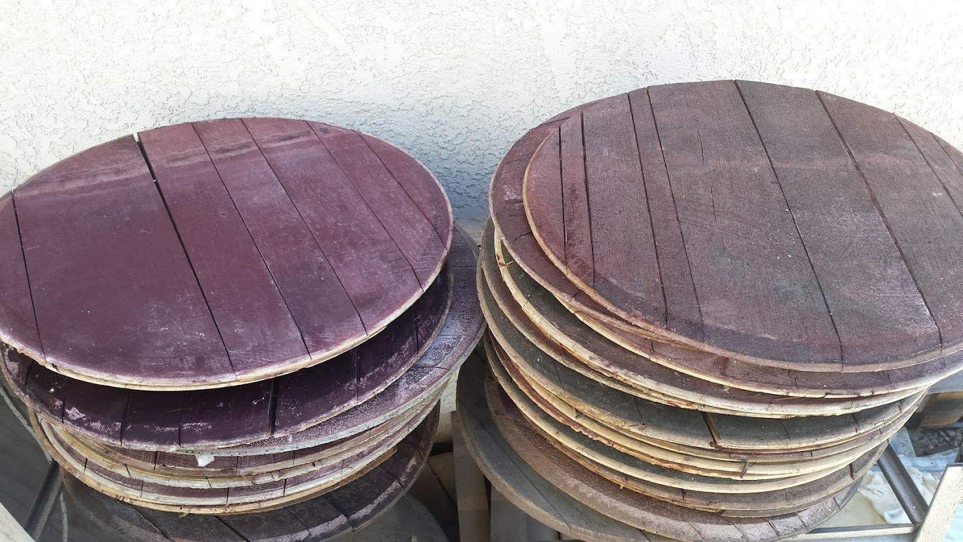 Two (2) Authentic Used Wine Barrel Heads - FREE SHIPPING!