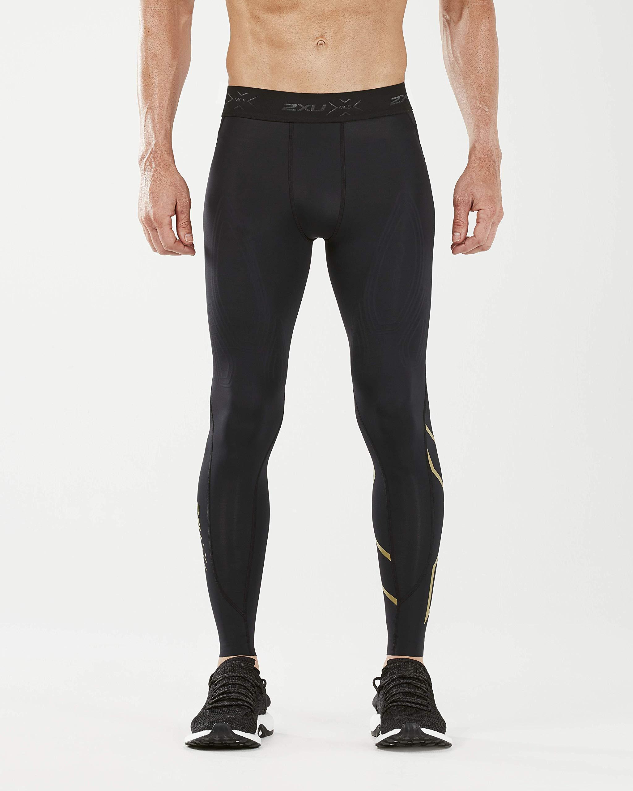 2XU MCS x Training Comp Tights, Black/Gold, x Small