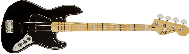 Vintage Modified Jazz Bass 77 Maple Fingerboard Black Fender Squier 0307702506