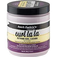 Aunt Jackie's Curl La La, Lightweight Curl Defining Custard, Creates Long Lasting Curly Hair with Mega-moisture…
