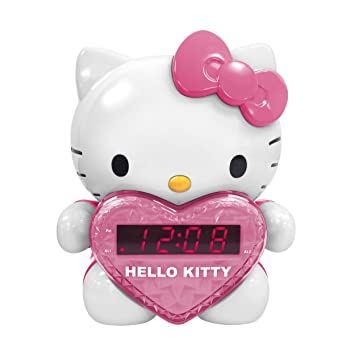 Amazon.com: Hello Kitty kt2064 am/fm radio reloj de ...